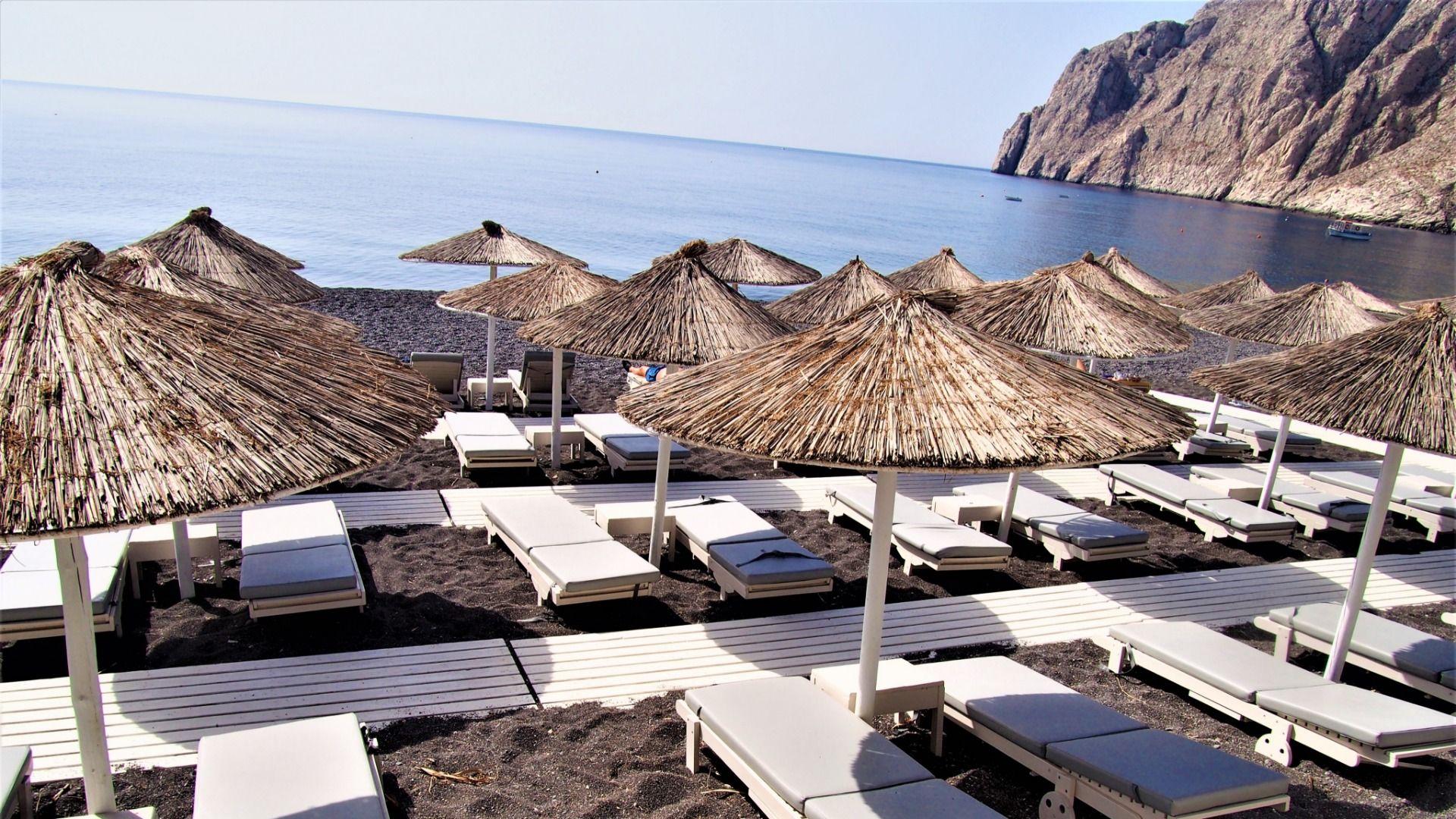 Beachdibs Santorini Mesogaia Restaurant Beach Reservations